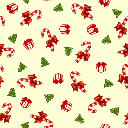 Christmas vector pattern with candy Vector
