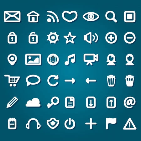 set of flat web icons Stock Vector - 23461851