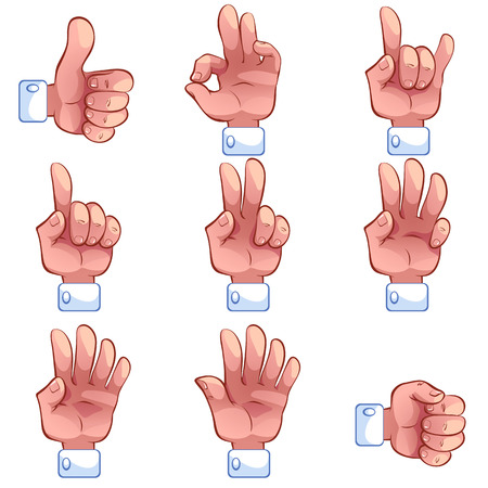 A set of icons - hands and gestures