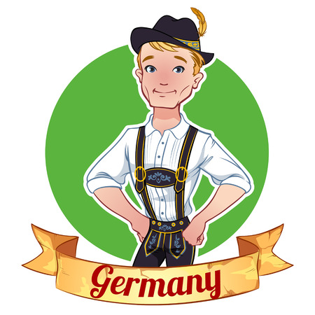 Boy in a German national costume