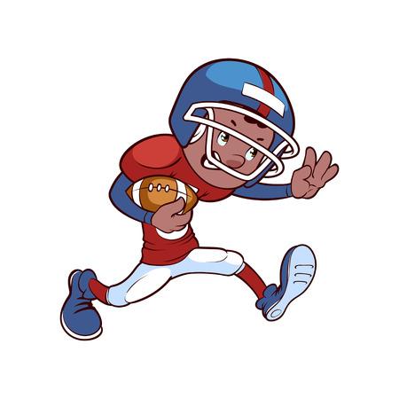 ebony: American football player Illustration