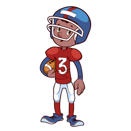 ebony: American football player Illustration