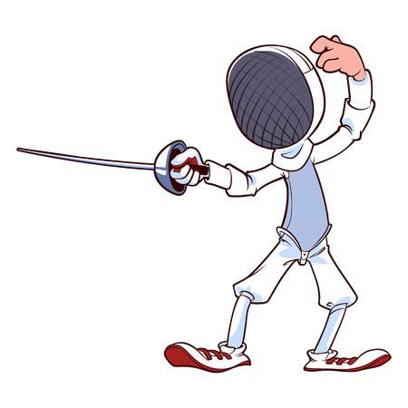 fencing foil: Fencer with rapier Illustration