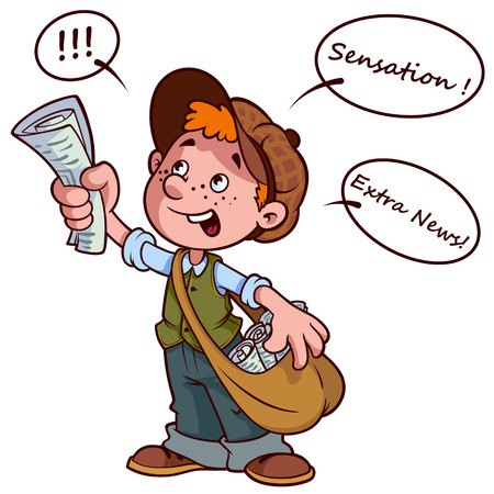 Image result for newspaper boy clipart
