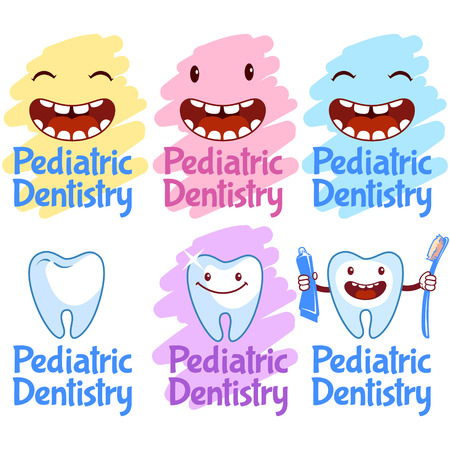 pediatric: Set of logos for pediatric dentistry