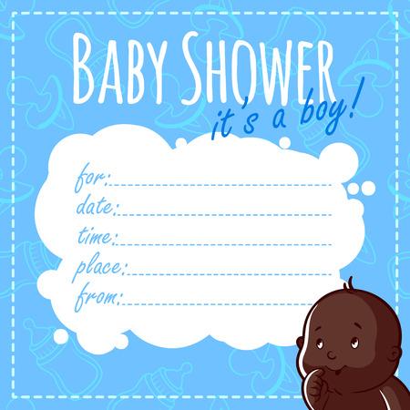 Tarjeta De Baby Shower Es Una Niña Blanco Invitaciones De