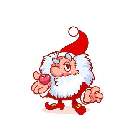 gnome: Christmas gnome funny cartoon character. clip-art illustration.