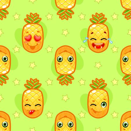 naranja fruta: sin patr�n, con la pi�a alegre sobre un fondo verde. fondo para los ni�os.