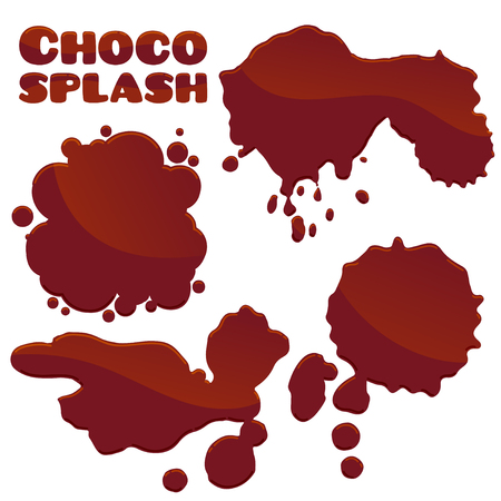 chocolate splash: Set of chocolate splash.