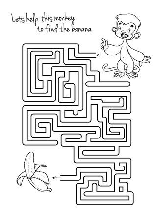 Juego Educativo Para Niños. Cómo Dibujar Un Plátano. Dibujo Con ...