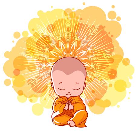 小さな瞑想モンク