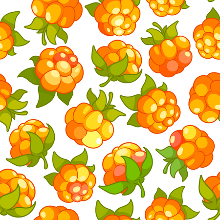 Vector seamless pattern with cloud berries