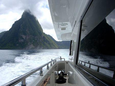 Yachting in the Caribbean Stok Fotoğraf