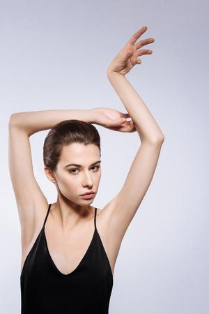Enchanting professional model striking a pose