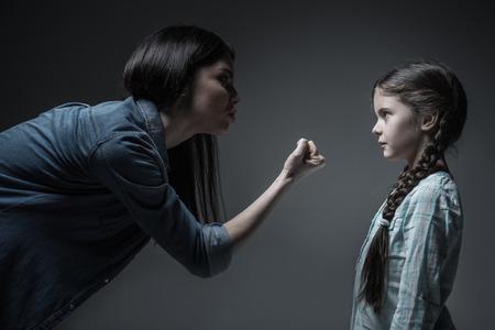 threaten: Dependent on alcohol woman threaten her daughter