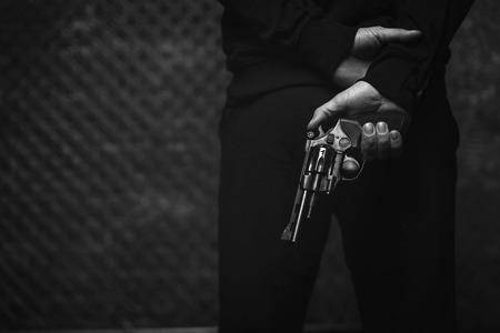 cinematic: Brutal dark man planning a robbery