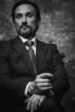 cinematic: Classy crime lord looking confident