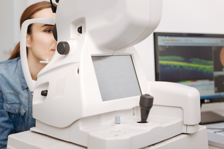 Close up of medical equipment being in use Stock Photo