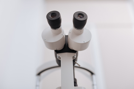 Close up of a special eye examination device