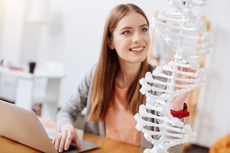 Passionate dedicated woman working on her scientific project