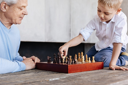 baby boomer: Diligent enterprising boy making a strategic move