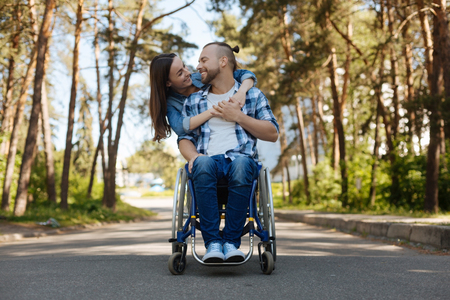 sweethearts: Romantic couple smiling to each other Stock Photo