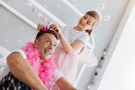 Hilarious good dad acting like a princess