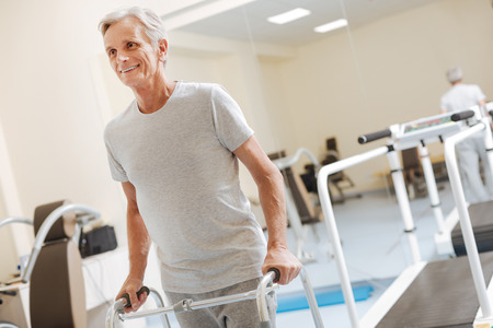 Strong disabled man believing in his recovery