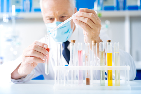Competent scientist working at his project