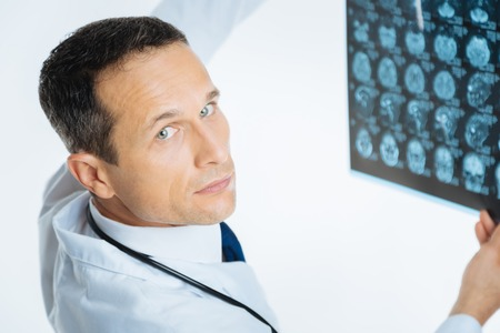 Close up portrait of male practitioner looking into camera Stock Photo