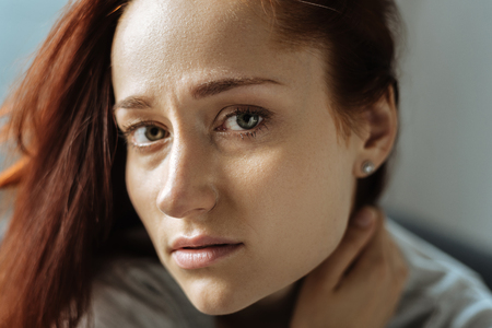 Portrait of an unhappy young woman Stock Photo