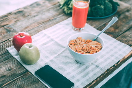 Cereals. Healthy useful breakfast waiting for someone to eat it
