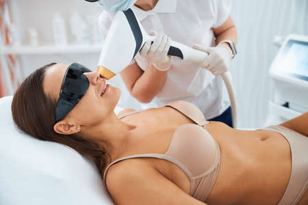 Patient getting rid of unwanted upper lip hair