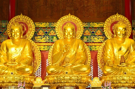 Gold Buddha statue, thailand Stock Photo