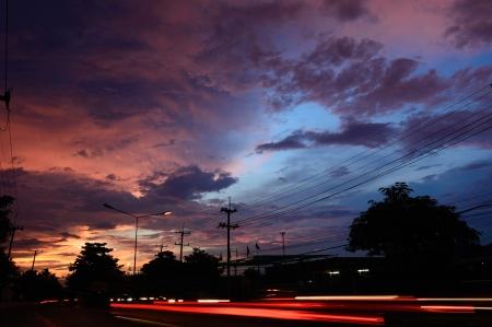 Sunset Overcast sky