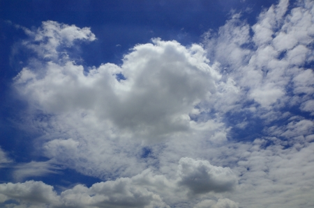 Cloud with blue sky Natural landscape on season Stock Photo