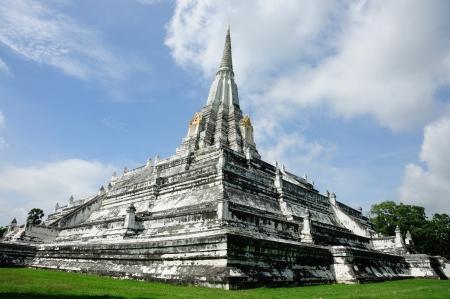archeologist: Phu khoa thong Pagoda ancient remains in  Ayutthaya, Thailand