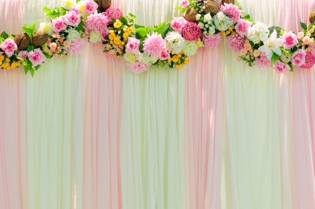 Romance wide scene wedding background decoration