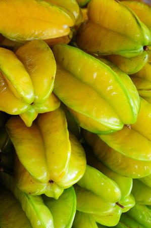 Starfruit on street market, Thailand