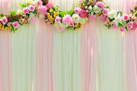 Romance wide scene wedding background decoration