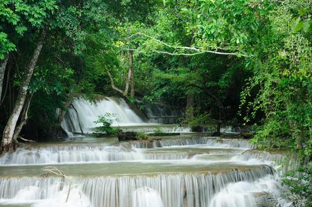 Rainforest waterfalls  in  Kanchanaburi Provice, Thailand