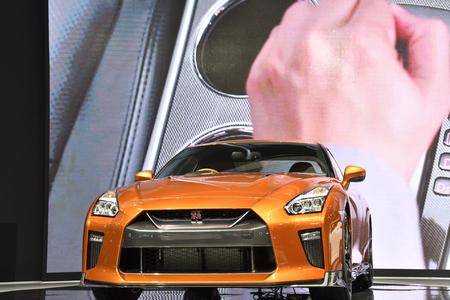 Nonthaburi,THAILAND - March 30, 2018: Nissan GT-R Premium Edition at THE 39th BANGKOK INTERNATIONAL MOTOR SHOW 2018