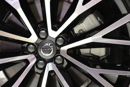 Nonthaburi,THAILAND - March 30, 2018: Cut Alloy Wheel, The new Volvo XC60 at THE 39th BANGKOK INTERNATIONAL MOTOR SHOW 2018