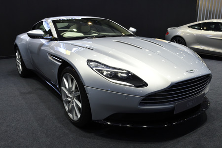 Nonthaburi,THAILAND - March 30, 2018: Aston Martin DB11 V12 Coupe at THE 39th BANGKOK INTERNATIONAL MOTOR SHOW 2018