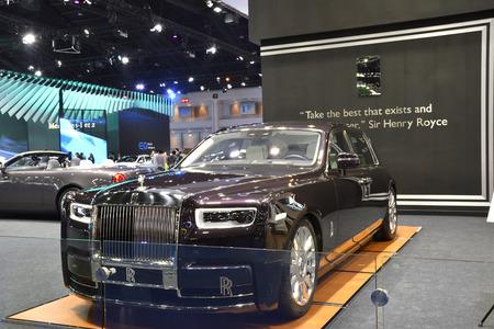 Nonthaburi,THAILAND - March 30, 2018: Rolls-Royce Phantom at THE 39th BANGKOK INTERNATIONAL MOTOR SHOW 2018