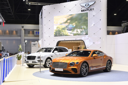 Nonthaburi,THAILAND - March 30, 2018: The BENTLEY exhibition booth at THE 39th BANGKOK INTERNATIONAL MOTOR SHOW 2018