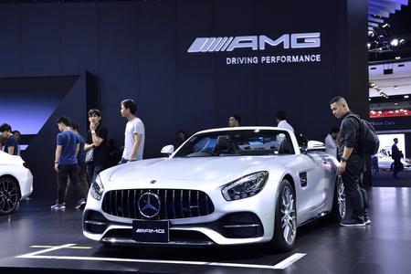 Nonthaburi,THAILAND - March 30, 2018: New Mercedes-AMG CLA 45 4MATIC at THE 39th BANGKOK INTERNATIONAL MOTOR SHOW 2018
