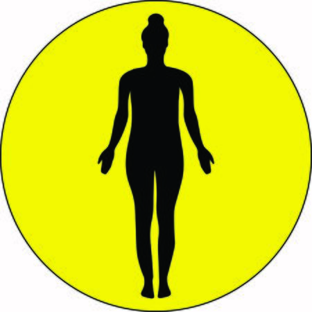 An isolated young yogi stretches the entire body standing in yoga Tadasana pose. Relaxation, meditation illustration Illusztráció