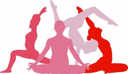 Warrior pose Virabhadrasana Asana, Lotus pose Mrigi Mudra Asana, Pigeon pose Pada Radha Kapotasana Asana, Bhuja Vrischikasana Asana Arm Balance Scorpion Pose