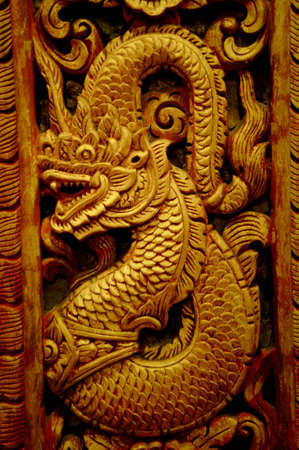 Thai style dragon in Chiangmai photo